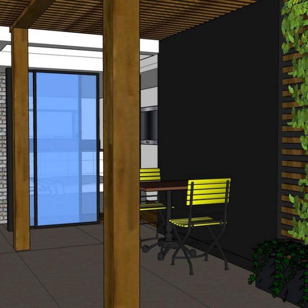 הצעה לתוספת חדר עלייה על הגג לדירת גג ברחוב גורדון בתל אביב