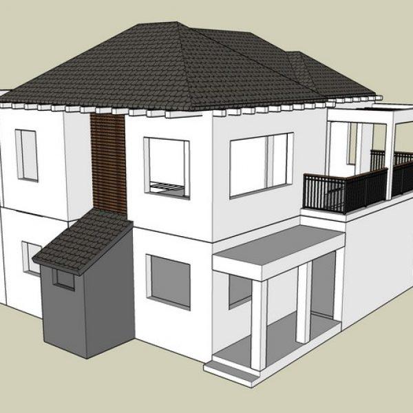 הצעה לתוספת קומה לבית פרטי בבת חפר (נמצא בשלבי רישוי)